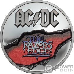 RAZORS EDGE ACDC 2 Oz Silber Münze 10$ Cook Islands 2019