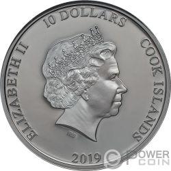 RAZORS EDGE ACDC 2 Oz Серебро Монета 10$ Острова Кука 2019