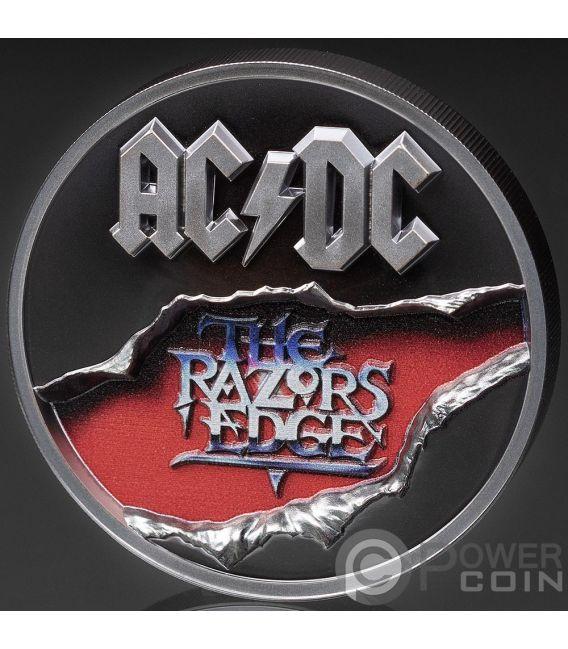 RAZORS EDGE ACDC 2 Oz Silver Coin 10$ Cook Islands 2019