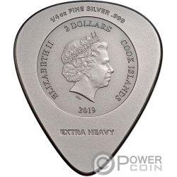 PLUG ME IN ACDC 1/4 Oz Серебро Монета 2$ Острова Кука 2019