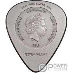 PLUG ME IN ACDC Plectro 1/4 Oz Moneda Plata 2$ Cook Islands 2019