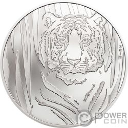 HIDDEN TIGER 1/2 Oz Серебро Монета 250 Тугриков Монголия 2019