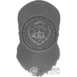 BIKER SKULL Calavera Shape 1 Oz Moneda Plata 5$ Palau 2019
