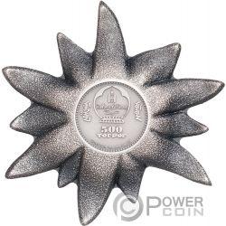 EDELWEISS  Estrella 1 Oz Moneda Plata 500 Togrog Mongolia 2019