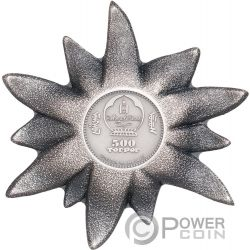 EDELWEISS Mountain Star 1 Oz Silver Coin 500 Togrog Mongolia 2019