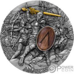 WOMAN WARRIOR Amazons 2 Oz Silver Coin 5$ Niue 2019