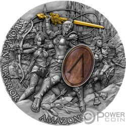 WOMAN WARRIOR Guerrera Amazons 2 Oz Moneda Plata 5$ Niue 2019