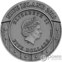 WOMAN WARRIOR Amazons 2 Oz Silber Münze 5$ Niue 2019