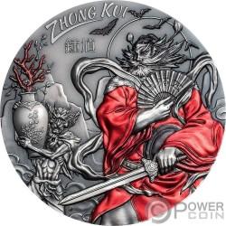 ZHONG KUI Asian Mythology 3 Oz Silver Coin 20$ Cook Islands 2019