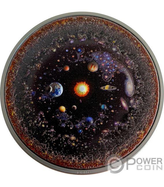 UNIVERSE Universo Space Final Frontier 3 Oz Moneta Argento 20$ Palau 2019