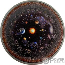 UNIVERSE Universo Space Final Frontier 3 Oz Moneda Plata 20$ Palau 2019