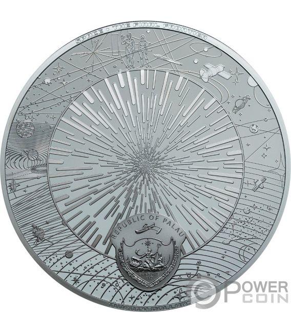UNIVERSE Universo Space Final Frontier 3 Oz Moneda Plata 20$ Palau 2019
