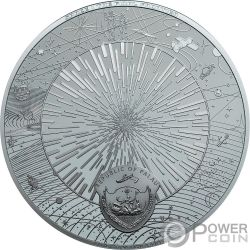 UNIVERSE Space Final Frontier 3 Oz Silver Coin 20$ Palau 2019