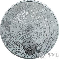 UNIVERSE Universum Space Final Frontier 3 Oz Silber Münze 20$ Palau 2019
