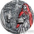LITTLE RED RIDING HOOD Красная шапочка Fairy Tales Fables 3 Oz Монета Серебро 20$ Острова Кука 2019