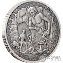ALADDIN Aladino Legendary Tales 1 Oz Moneta Argento 2$  Niue 2019