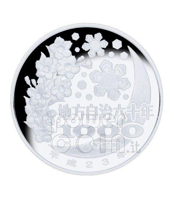 TOYAMA 47 Prefetture (14) Moneta Argento 1000 Yen Giappone 2011