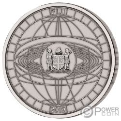HONOURING TITANS SPACEFLIGHT Volo Spaziale 4 Titanium 1/2 Kg Moneta Argento 10$ Fiji 2020