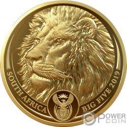 LION Lion Big Five 1 Oz Moneta Oro 50 Rand South Africa 2019