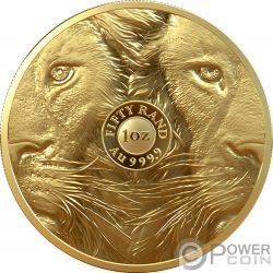 LION Big Five 1 Oz Gold Coin 50 Rand South Africa 2019