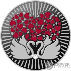 TWO SWANS Любовь Монета Серебро500 Франков Камерун 2019