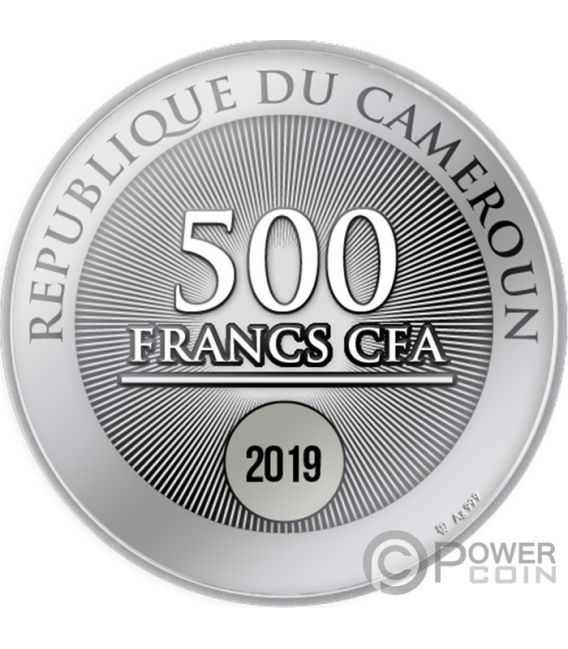 TWO SWANS Amore Moneta Argento 500 Franchi Cameroon 2019