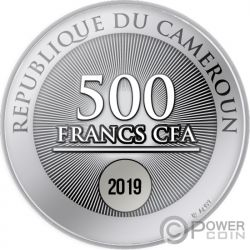 TWO SWANS Liebe Silber Münze 500 Franken Cameroon 2019
