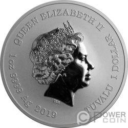CAPTAIN AMERICA Marvel 1 Oz Монета Серебро 1$ Тувалу 2019