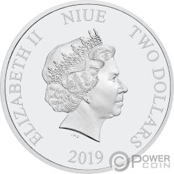 LION KING Disney Set 4x1 Oz Silver Coins 2$ Niue 2019