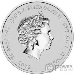 HOMER Coloured Simpsons 1 Oz Moneda Plata 1$ Tuvalu 2019