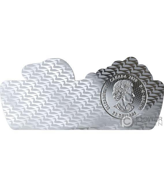 COMMON LOON Gavia Forma 3 Oz Moneda Plata 50$ Canada 2020