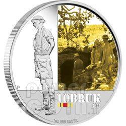 TOBRUK FAMOUS BATTLES 1941 Silver Coin 1$ Australia 2011