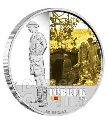 TOBRUK BATTAGLIE FAMOSE Tobruch 1941 Moneta Argento 1$ Australia 2011
