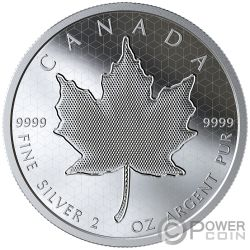 PULSATING MAPLE LEAF Optical Effect 2 Oz Silver Coin 10$ Canada 2020