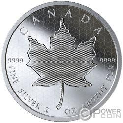 PULSATING MAPLE LEAF Оптический Эффект 2 Oz Монета Серебро 10$ Канада 2020