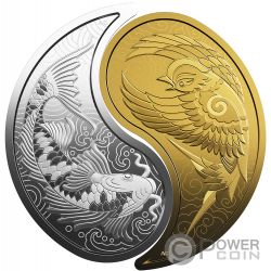 YIN YANG Коза Воробей Набор2 Монета Серебро Золото10$ 200$ Канада 2019