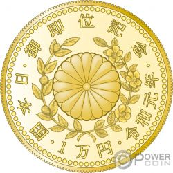 EMPEROR ENTHRONEMENT Fenice Moneta Oro 10000 Yen Japan Mint 2019