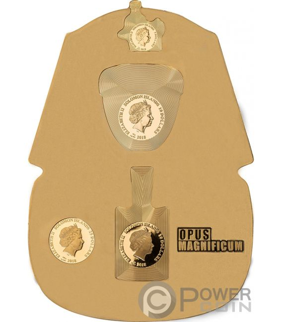 TUTANKHAMUN Opus Magnificum 1/2 Kg Kilo Silver Coin 5$ 10$ 25$ Solomon Islands 2018