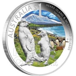 HEARD MCDONALD Islands Celebrate Australia Melbourne ANDA Moneta Argento Proof 1$ 2011