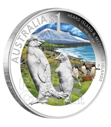 HEARD MCDONALD Islands Celebrate Australia Melbourne ANDA Coin 1 Oz Silver Proof Coin 1$ 2011