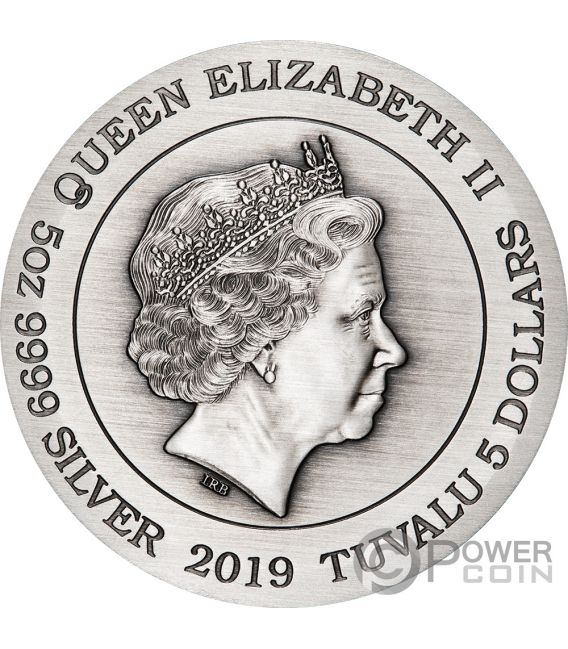 DRAGON AND PHOENIX Fenix 5 Oz Moneda Plata 5$ Tuvalu 2019