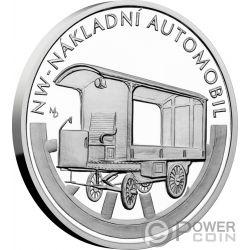 NAKLADNI AUTOMOBIL On Wheels Anniversaries of motor vehicles 1 Oz Silver Coin 1$ Niue 2019