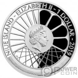 NAKLADNI AUTOMOBIL On Wheels Jubiläen von Kraftfahrzeugen 1 Oz Silber Münze 1$ Niue 2019