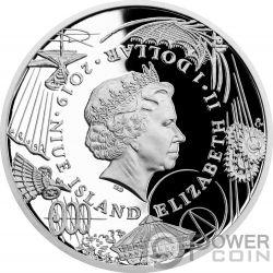 MACHINE GUN 500th Anniversary Leonardo Da Vinci 1 Oz Silver Coin 1$ Niue 2019