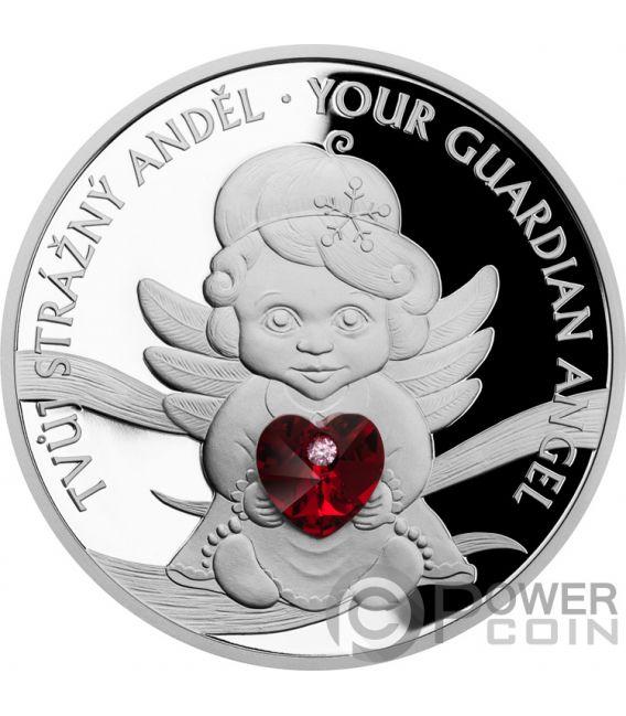 GUARDIAN ANGEL Angelo 1 Oz Moneta Argento 2$ Niue 2019