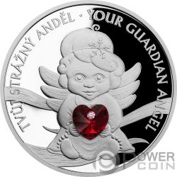 GUARDIAN ANGEL Angelo 1 Oz Moneta Argento 2$ Niue 2019