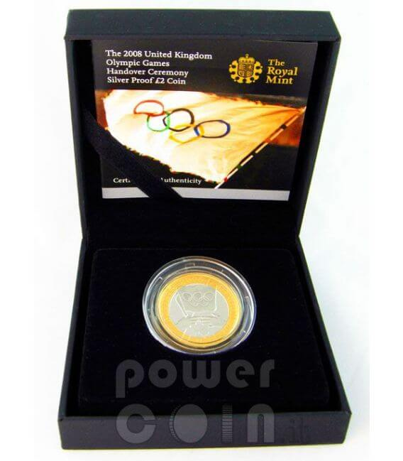 OLIMPIADI LONDRA 2012 Handover Moneta Argento Proof 2£ UK 2008