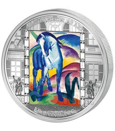 FRANZ MARC Blue Horse 3 Oz Silver Coin 20$ Cook Islands 2011