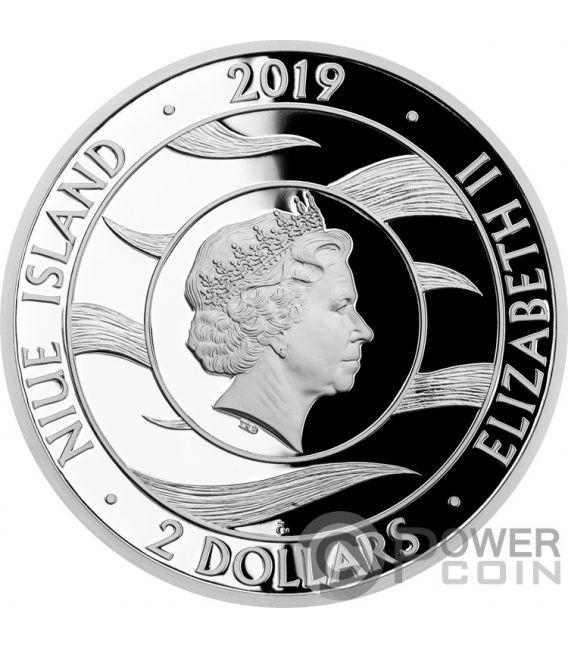 GUARDIAN ANGEL 1 Oz Silver Coin 2$ Niue 2019
