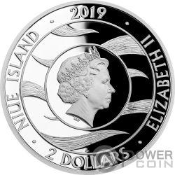GUARDIAN ANGEL 1 Oz Moneda Plata 2$ Niue 2019